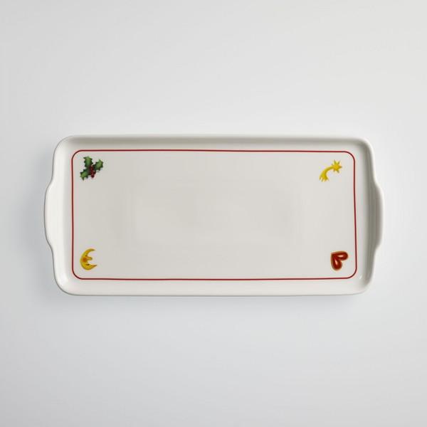 Dibbern Season´s Greetings / red Platte 15x32 cm