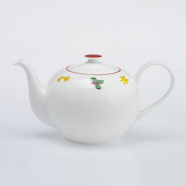 Dibbern Season´s Greetings / red Teekanne rund 1,3 L